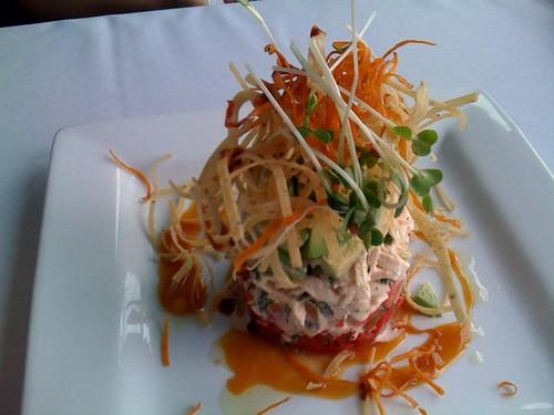 Avocado crab tower at Ruggles
