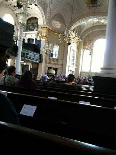 Rehearsal at St-Martin-in-the-fields