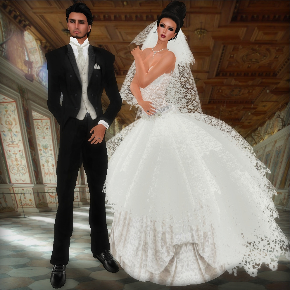June Wedding Dress and June Groom Tux - SF Design