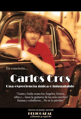Carlos Cros en concierto