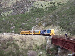 Get of and walk the bridge (a-dinosaur) Tags: new railway zealand dunedin gorge the taieri