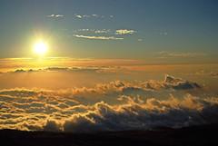 [フリー画像] 自然・風景, 空, 雲, 夕日・夕焼け・日没, ハワイ州, 201006122300
