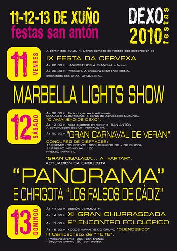 Festas de San Antón 2010 - Dexo (Oleiros) - cartel