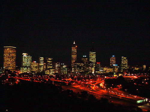Perth - City night view from Kings Park