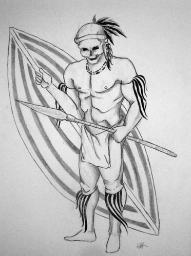 warrior tattoo drawing