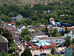 Crowded Brigus Festival Streets