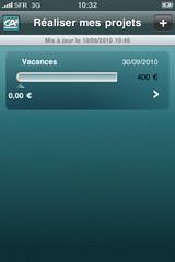 CA Mon Budget Screen : Réaliser mes projets par Crédit Agricole