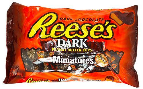 Reese's Dark Peanut Butter Cups Miniatures Package