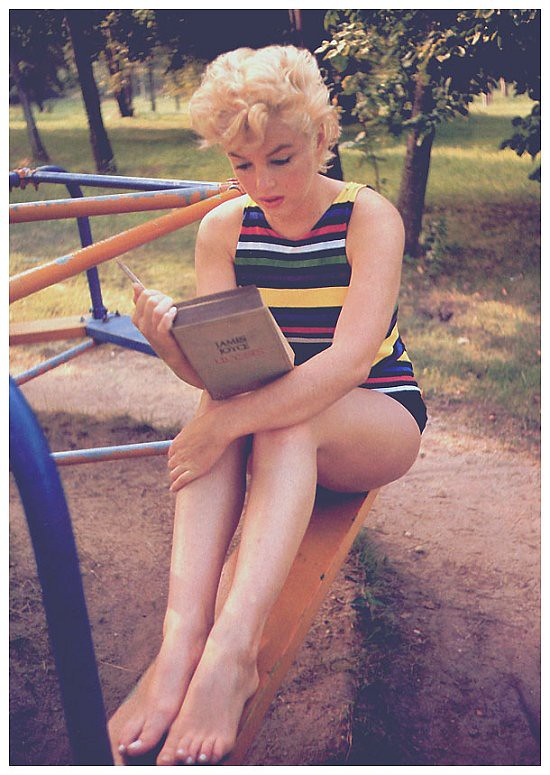 Marilyn Monroe Reading Ulysses,1954, by Eve Arnold