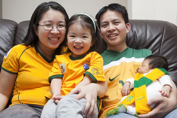 Socceroo Family Shot