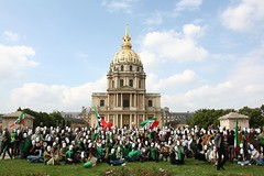 -  (sabzphoto) Tags: people paris france iran crowd protest farshad  iranelection   farahsa