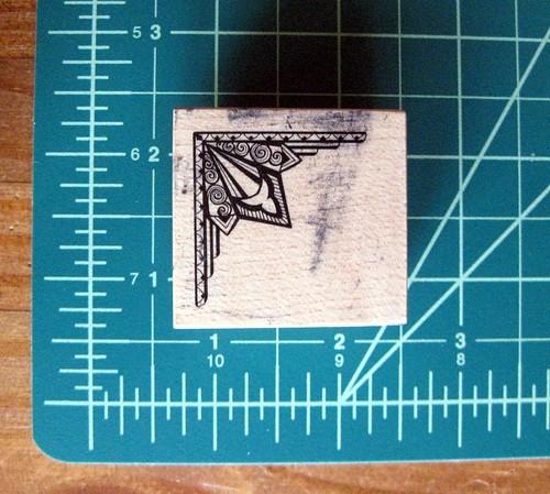 Art nouveau corner stamp