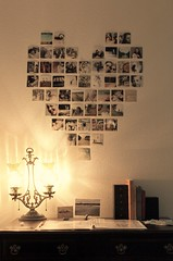 Heart Collage (D A Y S o f H O N E Y) Tags: lamp collage wall heart photos desk decore