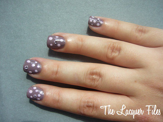 Nail Art Design Dottingtool Rhinestones China Glaze Channelesque China Glaze Something Sweet