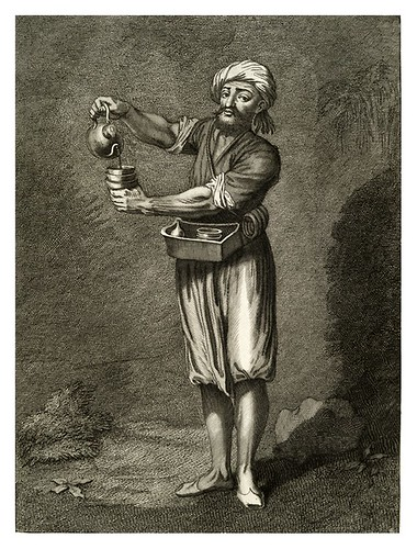 020-Vendedor de cafe callejero-Recueil de cent estampes…1714- M. Le Hay