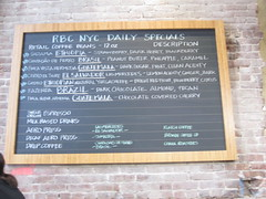 RBC bean menu