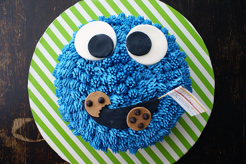 Cookie Monster Maniac Cake