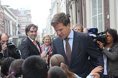 Mark Rutte op Noordeinde