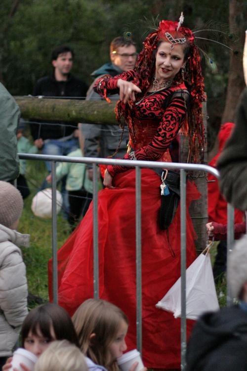 scarlet lady... leading the lantern walk
