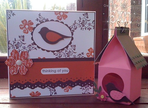 Birdhouse & Bird Card