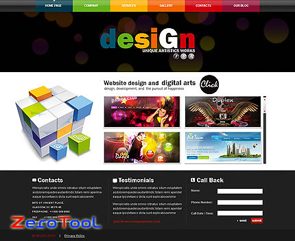 [UD]FlashMint 2740 Cube flash XML design studio template