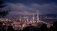 Alternative version (songallery) Tags: spectacular wide atmosphere bridge hongkong reflection evening dusk cloud sky cinematic    dreamscape dramatic ultrawide landscapes landscape weather cloudy gloomy blue night brilliant   wonder engineering landmark  subtle muted