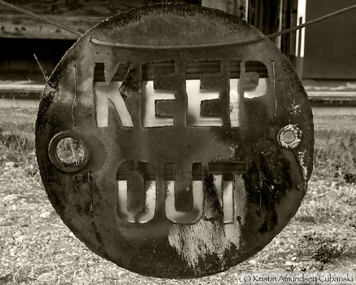 Keep Out sepia