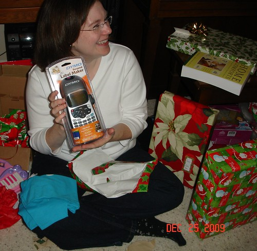 Mama with Labeler Dec 2009