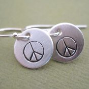 Tiny Peace Earrings