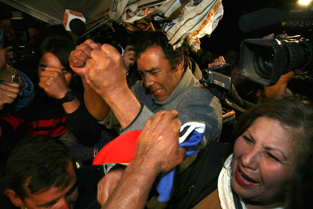 Father of Chilean Miner Celebrates His Son's Rescue