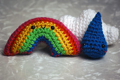 rainbow set (callie callie jump jump) Tags: cute stuffed crochet plush kawaii amigurumi stuffie