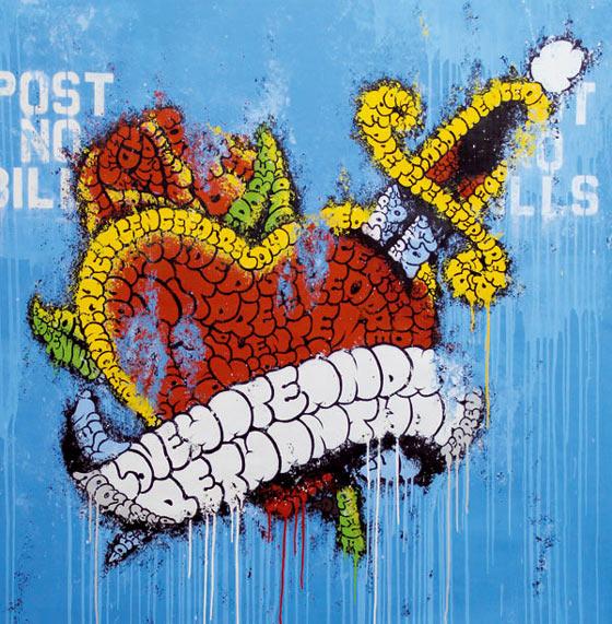 graffiti hecho con letras
