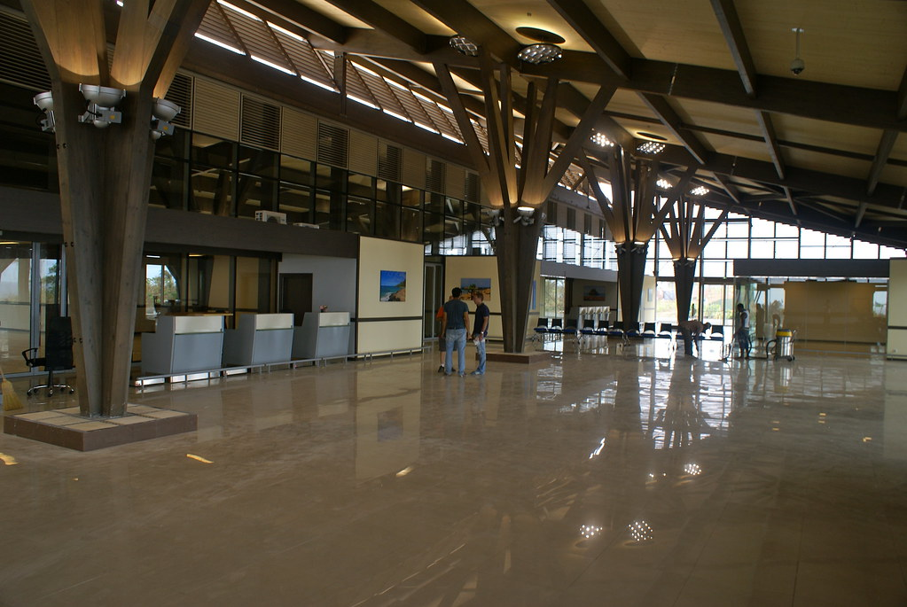 Workers Put Finishing Touches on the New Aeropuerto de Annobón