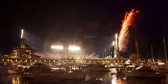 2010 World Series Celebration, San Francisco, California (PatrickSmithPhotography) Tags: sanfrancisco california landscape boats baseball fireworks victory giants rangers worldseries game1 mlb mccoveycove