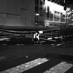 thin line (noji-ichi) Tags: city bw japan night tokyo alone cell ikebukuro   gr ricoh    grd