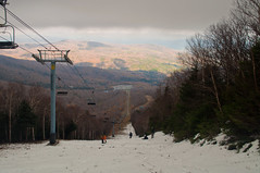 View of the ski slope at Sugar Bush