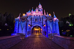 Standing there, it feels pretty big (explore) (CodyWDWfan) Tags: longexposure sleeping castle beauty night disneyland sony disney fisheye 8mm bower sleepingbeautycastle a700 samyang rokinon prooptic dslra700