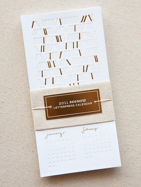 Seesaw 2011 Calendar