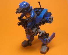 Run n' Gun (. soop) Tags: blue orange gun lego mr n run mech soop bley ironsniper