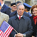 NYC Mayor Michael Bloomberg at the Veteran's Day parade up Fifth Avenue.