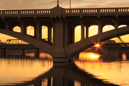 Sunset, Mill Avenue Bridge