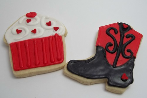 Valentine Cupcake and Cowboy Boot