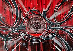 * Le dernier arbre * (-ABLOK-) Tags: yeah toile trash rougeetnoir freetree nature oxygène canvas graff graffiti abstrait ablok issanissa