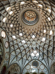 The Summer House Ceiling (Les Koppe Photography) Tags: iran kashan landscape