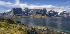 Reine Lofoten! (nsiepelbakker) Tags: lofoten reine norway mountains omdm5 zuiko1250mm clouds bluesky