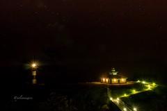 Noche en el faro (yolicanizares) Tags: panasonicgh4 galicia lugo ribadeo islapancha stars faro lighthouse night