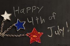 Happy 4th of July! (EternallyRose) Tags: happy4thofjuly july4th independanceday holiday bibleverse john836 nkjv starearring minichalkboard text chalk chain stars nikond5500 afsmicronikkor105mmf28gvrifedlens macro redwhiteandblue freedom