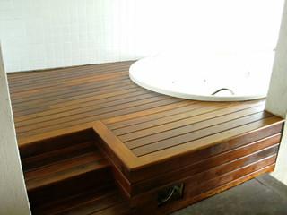 Instalação de Hidro com deck em madeira