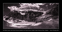 Mt. Edith Cavell with Cavell Glacier (bottom) and Angel Glacier (right), Jasper National Park, Alberta (kgogrady) Tags: infrared landscape summer jasper alberta canada rocky photosofjaspernationalpark xf14mmf28r rockymountains xpro1 rockies snow picturesofjaspernationalpark 2017 fujinon westerncanada fujifilm fujifilmxpro1 blackandwhite blackwhite afternoon bw ab glacier jaspernationalpark ice clouds mtedithcavell mountedithcavell cavellglacier angelglacier parkscanada cans2s canadianrockieslanscape canadianmountains canadiannationalparks