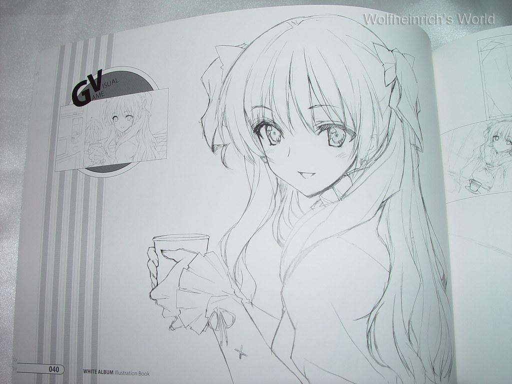 Ogata Rina 緒方理奈 PS3 Illustration Sketch